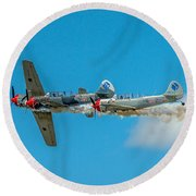 Two Yak 52's Round Beach Towel