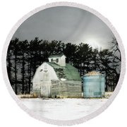 Round Beach Towel featuring the photograph Twos Company by Julie Hamilton