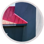 Tybee Building Abstract Round Beach Towel