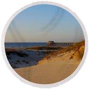 Tybee Dunes Round Beach Towel
