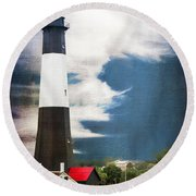 Round Beach Towel featuring the photograph Tybee Island by Judy Wolinsky