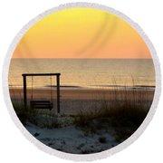 Tybee Swing Round Beach Towel