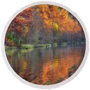 Tyler Lake Round Beach Towel