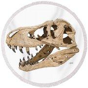 Tyrannosaurus Skull Round Beach Towel