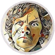 Round Beach Towel featuring the painting Tyrion Lannister by Paul Van Scott