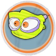 Tyro Round Beach Towel by Uncle J's Monsters