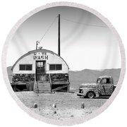 Round Beach Towel featuring the photograph U - We Wash - Death Valley by Mike McGlothlen