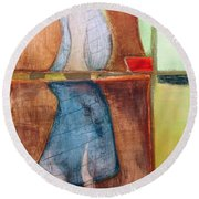 Art Print U2 Round Beach Towel