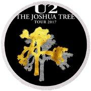 U2 Joshua Tree Round Beach Towel