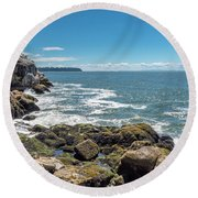 Round Beach Towel featuring the photograph Ubc View by Ross G Strachan