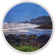 Ucluelet, British Columbia Round Beach Towel by Heather Vopni