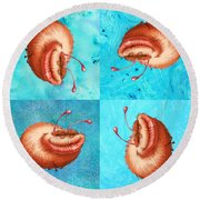 Ugly Bug Squares Round Beach Towel