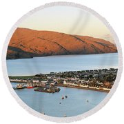 Ullapool Morning Light Round Beach Towel