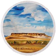 Ulm Montana First People's Buffalo Jump   93 Round Beach Towel