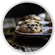 Ultimate Chocolate Chip Muffins Round Beach Towel