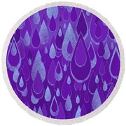Round Beach Towel featuring the digital art Ultra Violet Rain by Zaira Dzhaubaeva