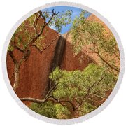 Round Beach Towel featuring the photograph Uluru 02 by Werner Padarin