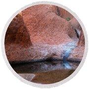 Round Beach Towel featuring the photograph Uluru 03 by Werner Padarin