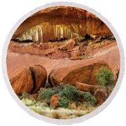 Round Beach Towel featuring the photograph Uluru 06 by Werner Padarin