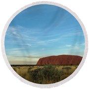 Round Beach Towel featuring the photograph Uluru Sunset 02 by Werner Padarin