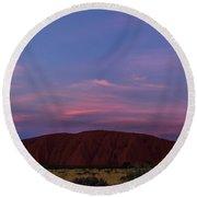Round Beach Towel featuring the photograph Uluru Sunset 04 by Werner Padarin