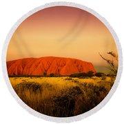 Uluru Sunset Round Beach Towel