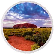 Uluru Round Beach Towel