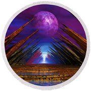 Ulvio Night Round Beach Towel