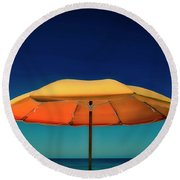 Umbrella Round Beach Towel by Jerry Golab