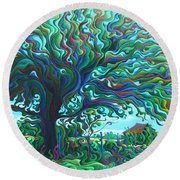 Umbroaken Stillness Round Beach Towel
