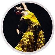 Un Momento Intenso Del Flamenco Round Beach Towel