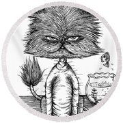 Unbalance Cat Round Beach Towel