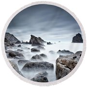 Round Beach Towel featuring the photograph Unbreakable by Jorge Maia