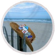 Uncle Carl's Beach Hat Round Beach Towel
