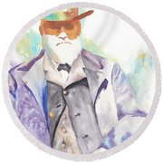 Uncle David Nation, Circa 1900 Round Beach Towel