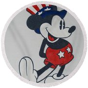 Uncle Mickey Round Beach Towel