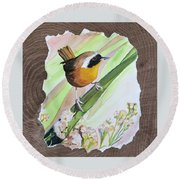 Uncommon Yellowthroat Round Beach Towel