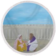 Unconditional Love  Round Beach Towel