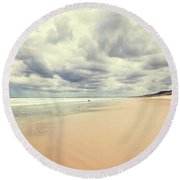 Round Beach Towel featuring the photograph Under A Southern Sky by Linda Lees