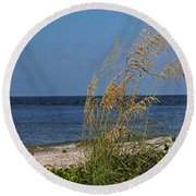Round Beach Towel featuring the photograph Under A Summer Sky by Michiale Schneider