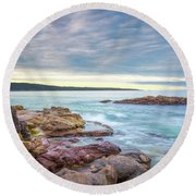 Under Eden Skies Round Beach Towel