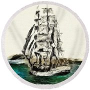 Under Full Canvas Round Beach Towel by Blair Stuart