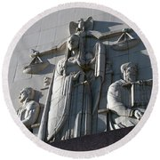Under Scales Of Justice Round Beach Towel