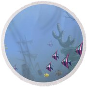 Under Sea 01 Round Beach Towel