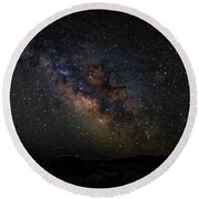 Under Starry Skies Round Beach Towel