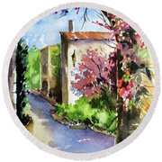 Under The Archway Round Beach Towel by Rae Andrews