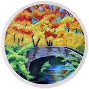 Under The Bridge Round Beach Towel