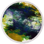 Under The Canopy 2- Abstract Art By Linda Woods Round Beach Towel