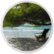 Under The Divi Divi Round Beach Towel by David and Lynn Keller