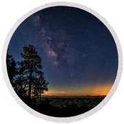 Round Beach Towel featuring the photograph Under The Milky Way  by Saija Lehtonen